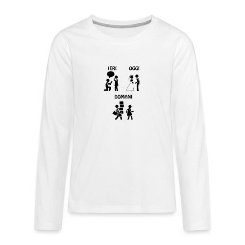 4 - Maglietta Premium a manica lunga per teenager