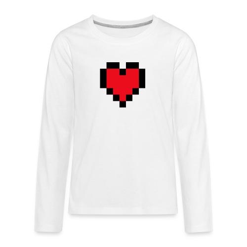 Pixel Heart - Teenager Premium shirt met lange mouwen