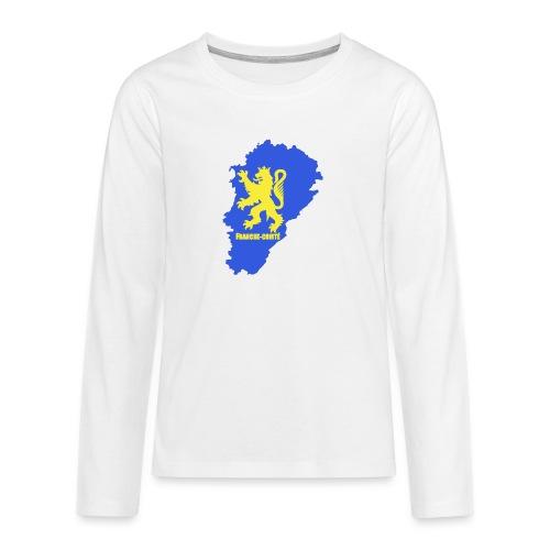 Carte Franche-Comté + lion - T-shirt manches longues Premium Ado