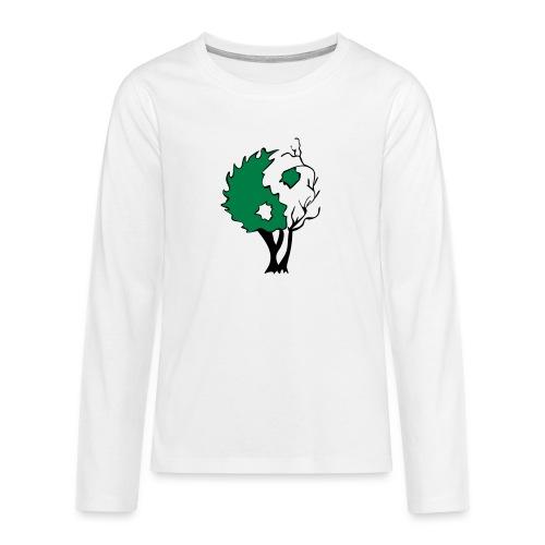 Yin Yang Arbre - T-shirt manches longues Premium Ado