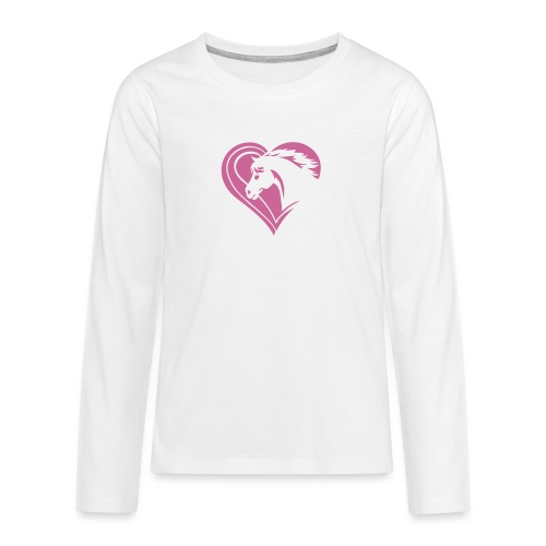 Iheart horses - Teenager Premium Langarmshirt