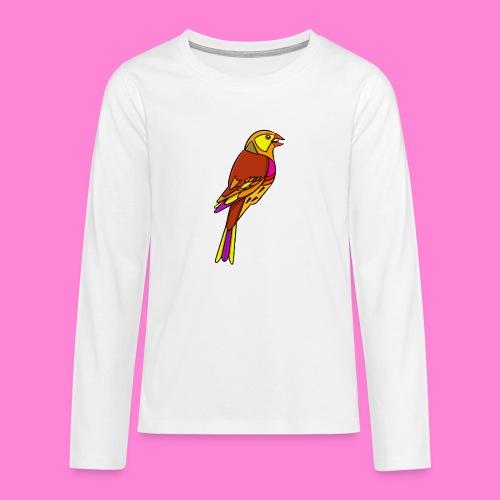Geelgors illustratie - Teenager Premium shirt met lange mouwen