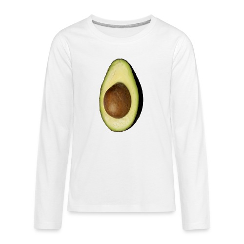 Real Photo Trendy AVOCADO vertical - Teenager Premium Langarmshirt