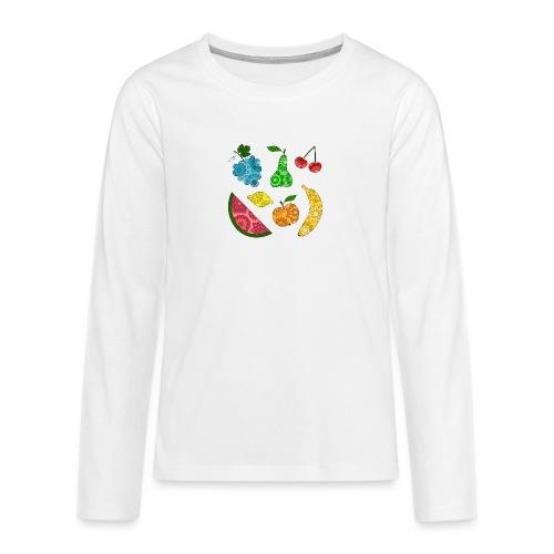 Obstsalat - Teenager Premium Langarmshirt