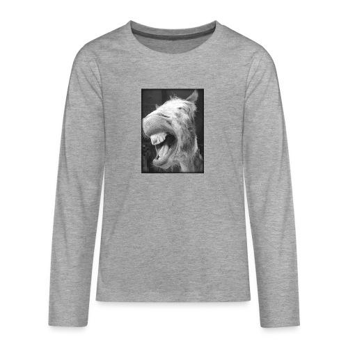 lachender Esel - Teenager Premium Langarmshirt