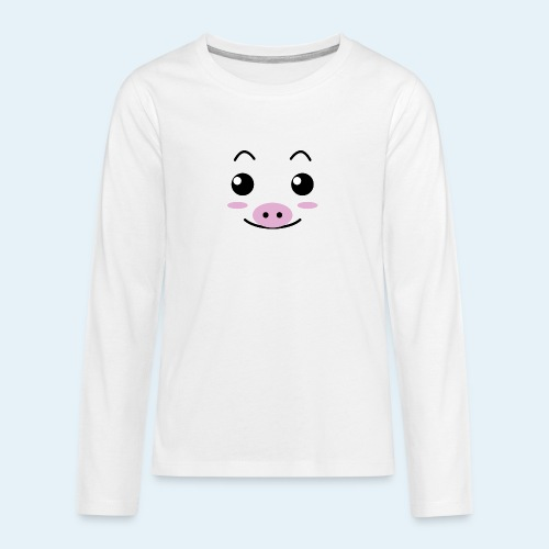 Cerdito lechón (Cachorros) - Camiseta de manga larga premium adolescente