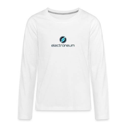 Electroneum - Teenagers' Premium Longsleeve Shirt