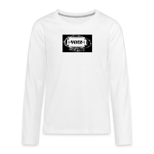 VOIZ schwarzes shirt - Teenager Premium Langarmshirt