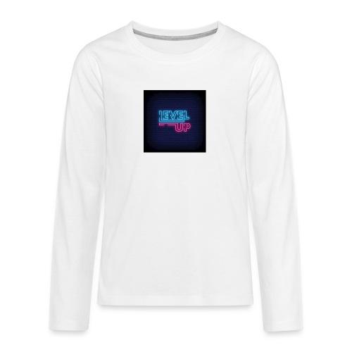 level up neon signboard 118419 1291 - Teenager premium T-shirt med lange ærmer