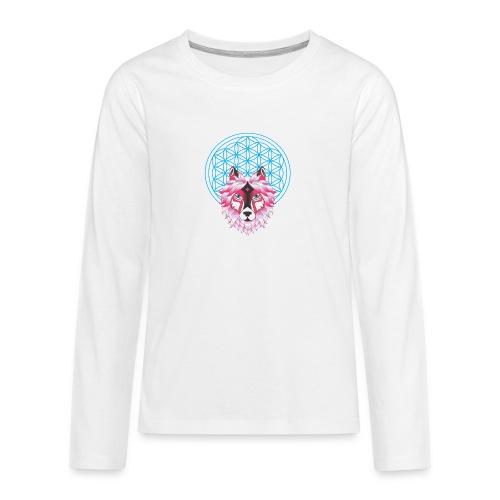 fleur de vie loup n°1 - T-shirt manches longues Premium Ado