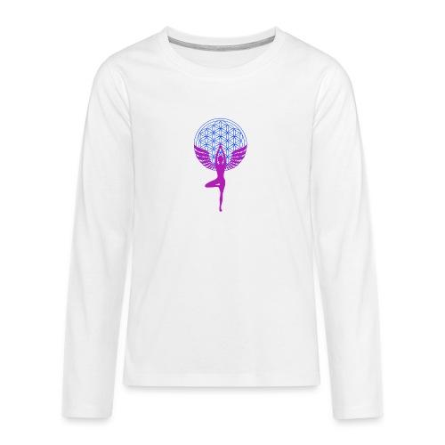 fleur de vie yoga n°1 - T-shirt manches longues Premium Ado