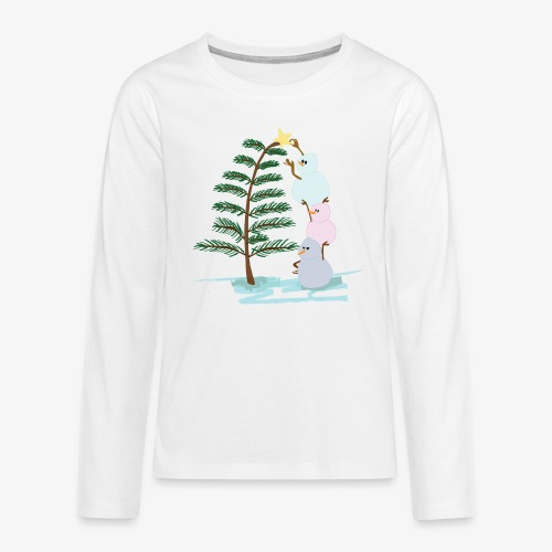 3bonhommesdeneige - Teenagers' Premium Longsleeve Shirt