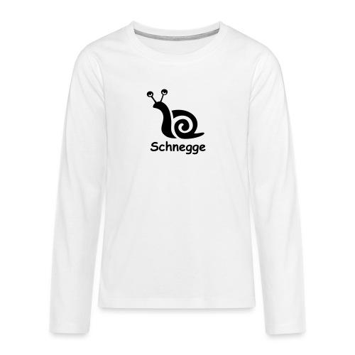schnegge - Teenager Premium Langarmshirt