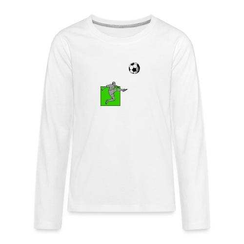 Fußball mit Grün - Teenager Premium Langarmshirt