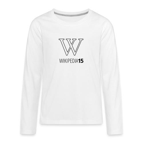 W, rak, vit - Långärmad premium T-shirt tonåring