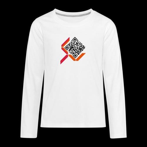 qrcodelogo - Teenager Premium Langarmshirt