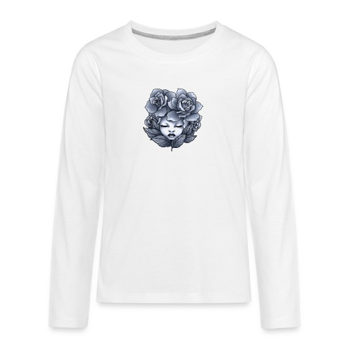 Flower Head - T-shirt manches longues Premium Ado