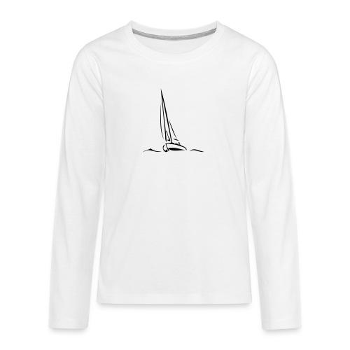 Segelboot - Teenager Premium Langarmshirt