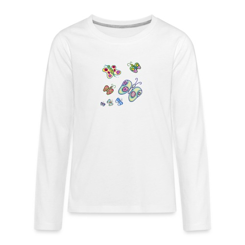 Allegria di farfalle - Maglietta Premium a manica lunga per teenager