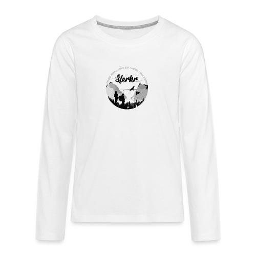 STERKR - Fjordview - Teenagers' Premium Longsleeve Shirt