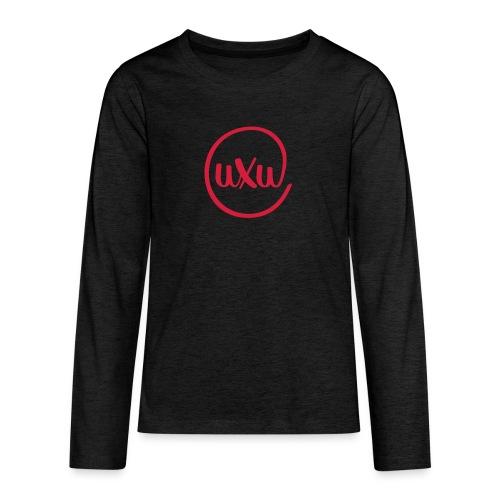 UXU logo round - Teenagers' Premium Longsleeve Shirt