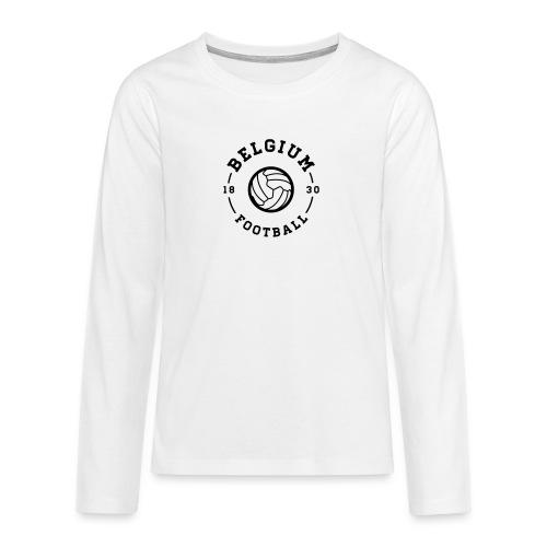 Belgium football - Belgique - Belgie - T-shirt manches longues Premium Ado