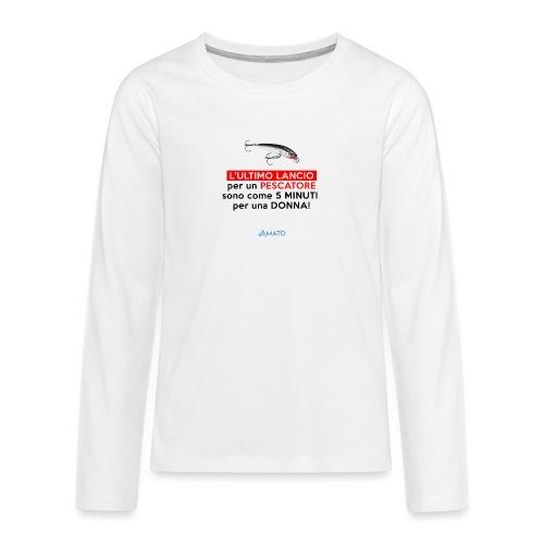L'ultimo lancio - Maglietta Premium a manica lunga per teenager