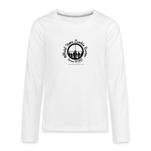 Official State Zombie Hunter (B) - Teenagers' Premium Longsleeve Shirt