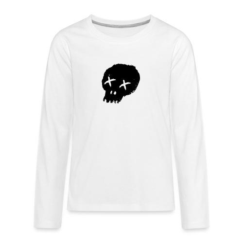 blackskulllogo png - Teenagers' Premium Longsleeve Shirt
