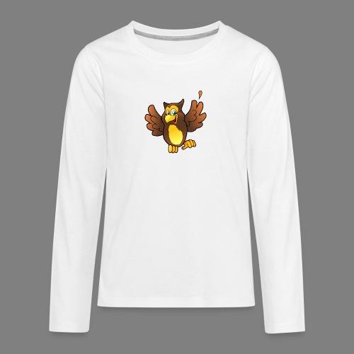 Cartoon Eule - Teenager Premium Langarmshirt