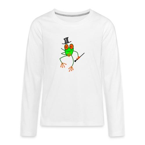 Dancing Frog - Teenagers' Premium Longsleeve Shirt