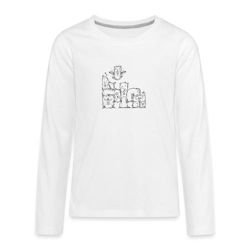 hamstris - Teenager Premium Langarmshirt