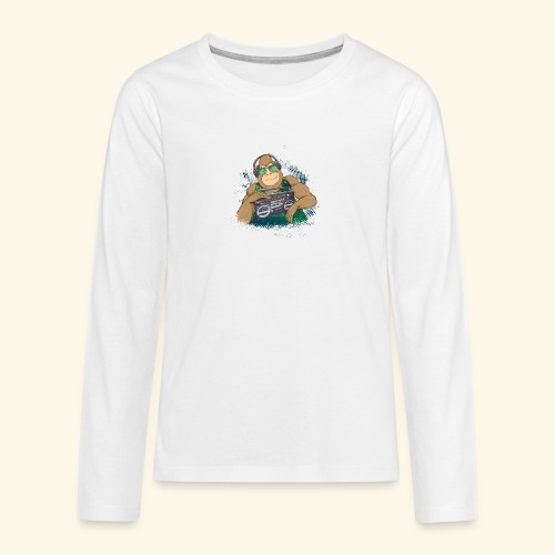 Gorilla Jungle Hiphop - Camiseta de manga larga premium adolescente