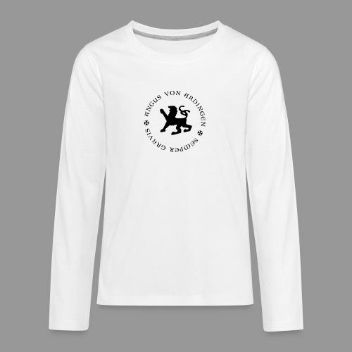 angus von ardingen semper gravis - Teenager Premium Langarmshirt