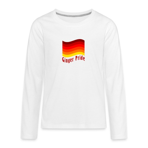 Ginger Pride flag Dark png - Teenagers' Premium Longsleeve Shirt