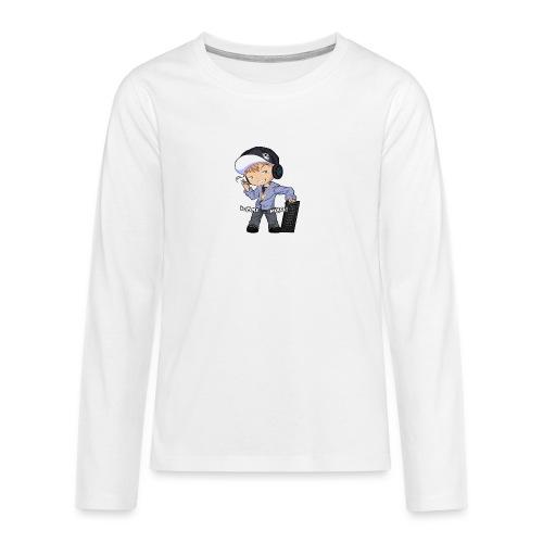 Kapuze Komma Näher mit Text by ShinaiShadow2 png - Teenager Premium Langarmshirt
