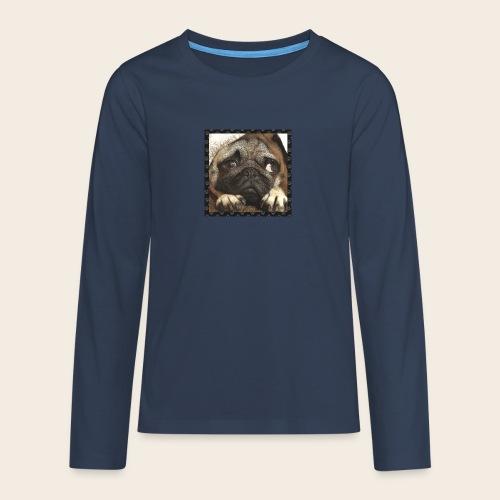 Mops Hund 1 - Teenager Premium Langarmshirt