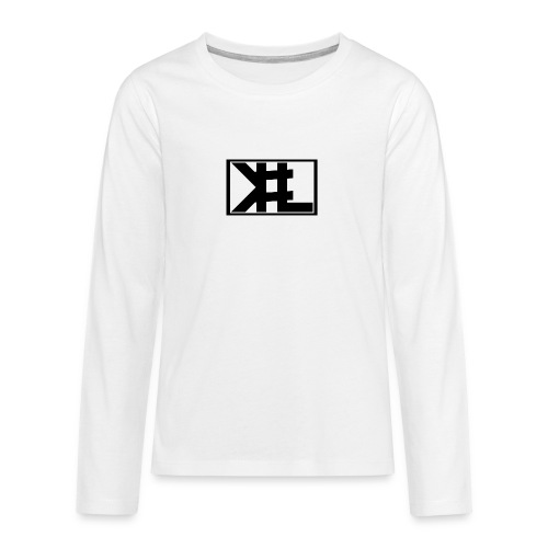 kllogga2 png - Långärmad premium T-shirt tonåring