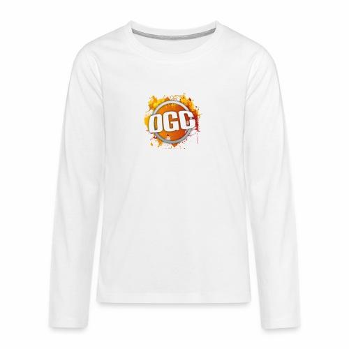 Merchlogo mega png - Teenager Premium shirt met lange mouwen