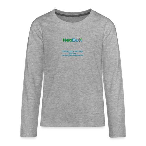 NeoBuX Blue - Teenagers' Premium Longsleeve Shirt