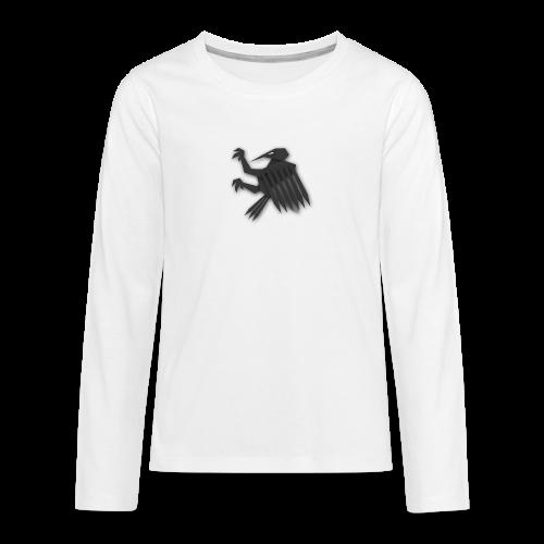 Nörthstat Group ™ Black Alaeagle - Teenagers' Premium Longsleeve Shirt