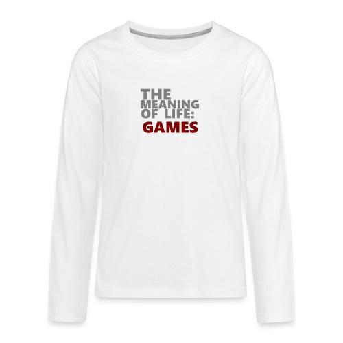 T-Shirt The Meaning of Life - Teenager Premium shirt met lange mouwen