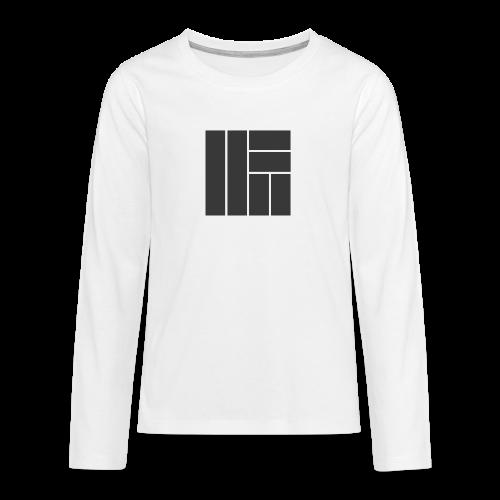 NÖRCup Black Iconic Edition - Teenagers' Premium Longsleeve Shirt