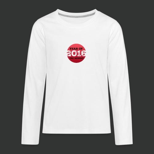 2016 year of the monkey - Teenagers' Premium Longsleeve Shirt