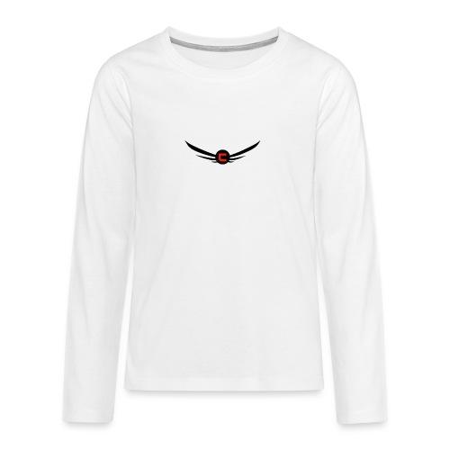 cloudy_v2_png-png - Långärmad premium T-shirt tonåring