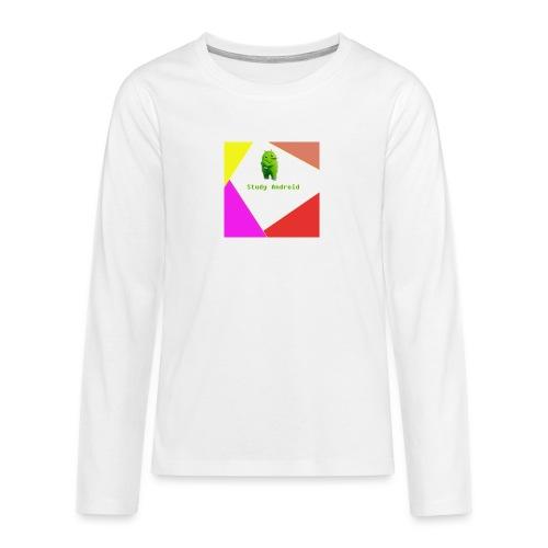Study Android - Camiseta de manga larga premium adolescente