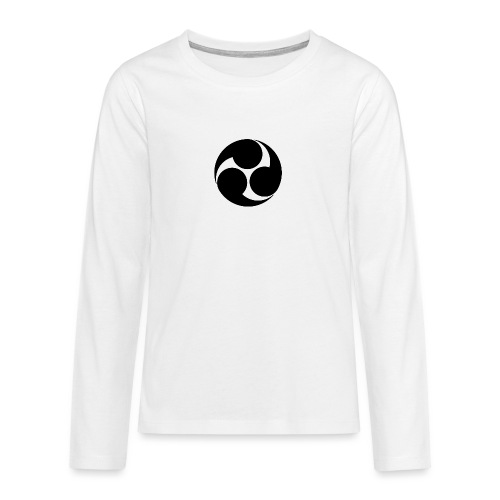 Kobayakawa Mon Japanese clan black - Teenagers' Premium Longsleeve Shirt