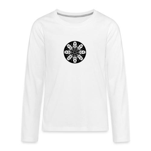Inoue clan kamon in black - Teenagers' Premium Longsleeve Shirt