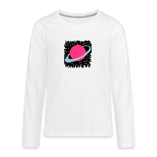 PixelArt Saturn - Teenagers' Premium Longsleeve Shirt