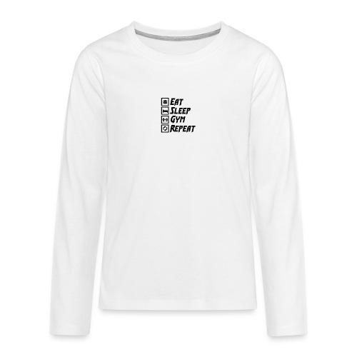 Eat Sleep Gym Repeat Tank Top - Teenagers' Premium Longsleeve Shirt